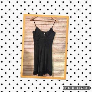 Laundry by Design Black Silk Spaghetti Prom Dress